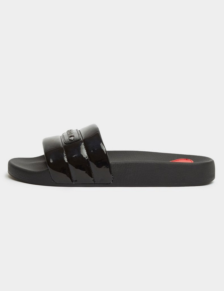 Love Moschino Quilted Slides