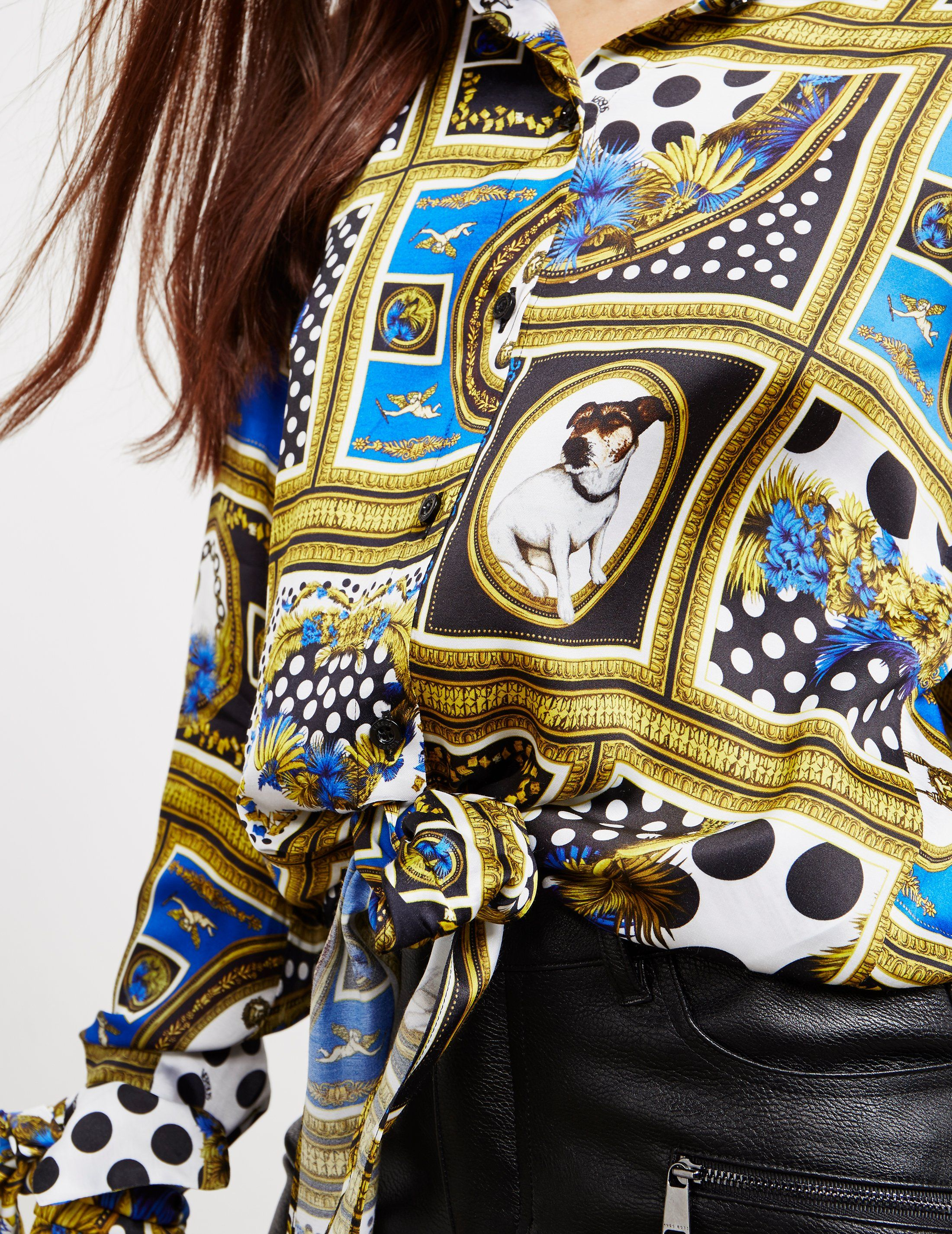 Versus Versace Print Long Sleeve Shirt