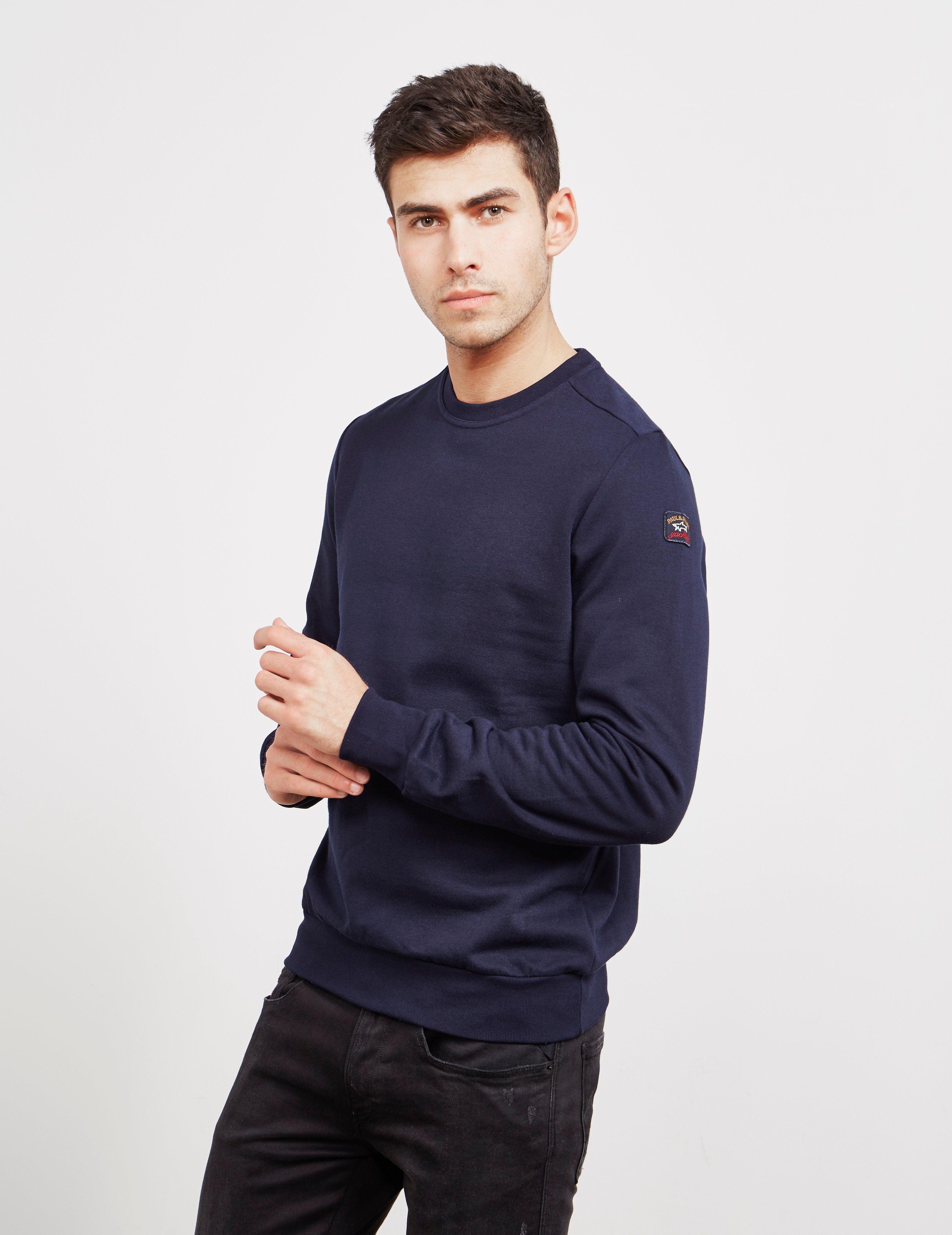 Paul and Shark Sleeve Branded Crew Sweatshirt