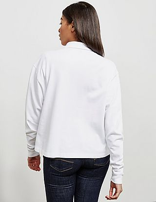 Polo Ralph Lauren Cropped Long Sleeve Polo Shirt