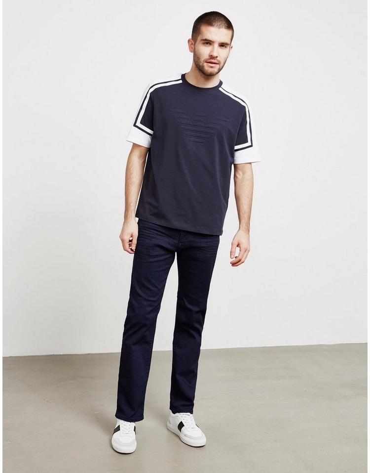 Emporio Armani Contrast Sleeve Short Sleeve T-Shirt