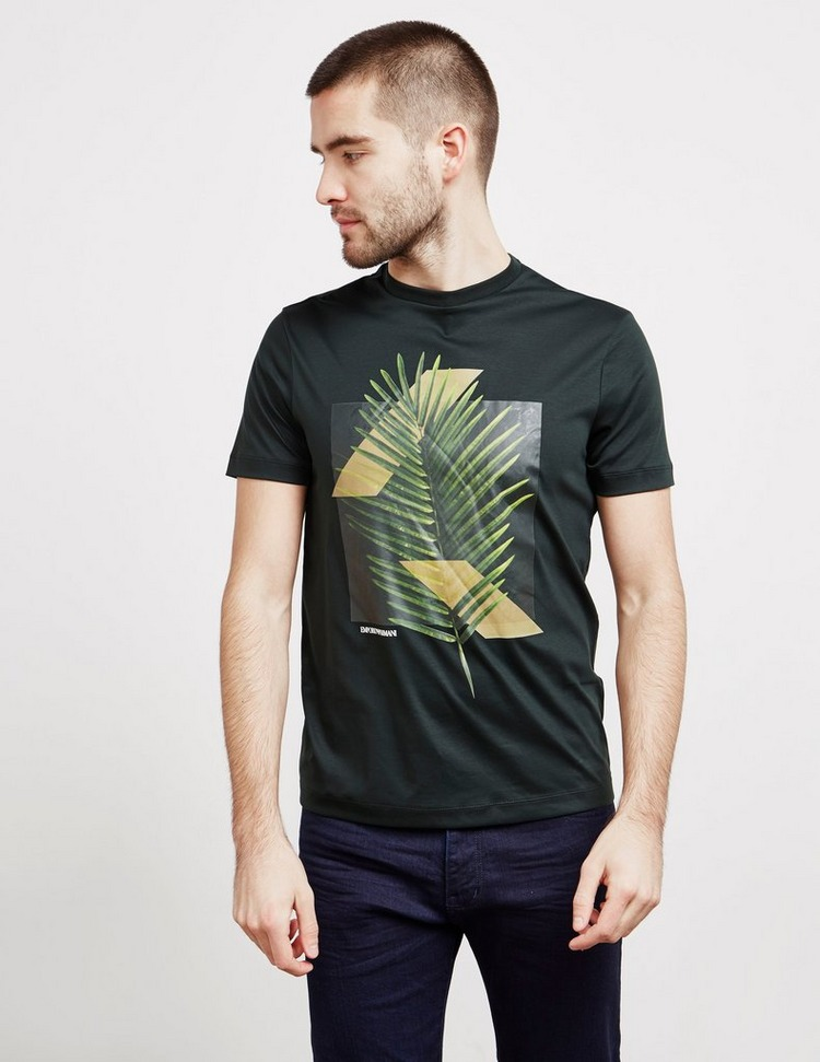 Emporio Armani Palm Print Short Sleeve T-Shirt - Online Exclusive
