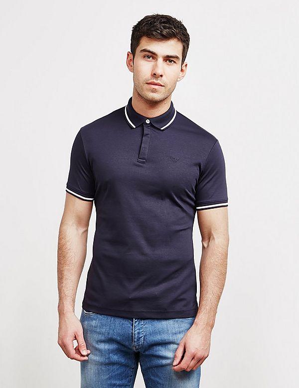 b2fb77be Emporio Armani Tipped Collar Short Sleeve Polo Shirt | Tessuti