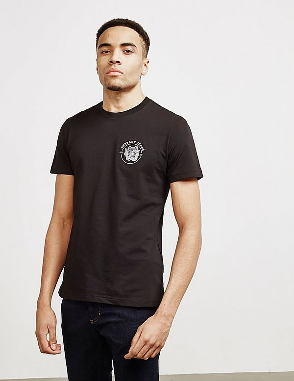 Versace Jeans Couture Embroidered Small Logo Short Sleeve T-Shirt