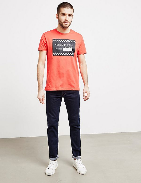 Versace Jeans Couture Piece Number Short Sleeve T-Shirt
