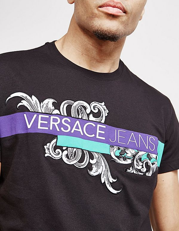 Versace Jeans Couture Baroque Logo Short Sleeve T-Shirt