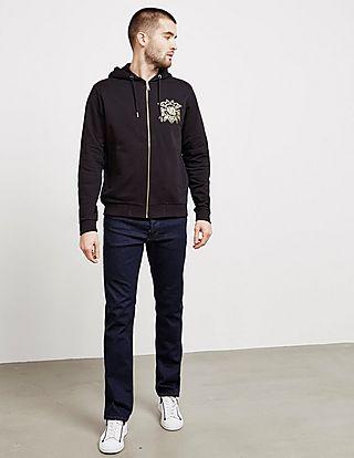 Versace Jeans Foil Logo Full Zip Hoodie