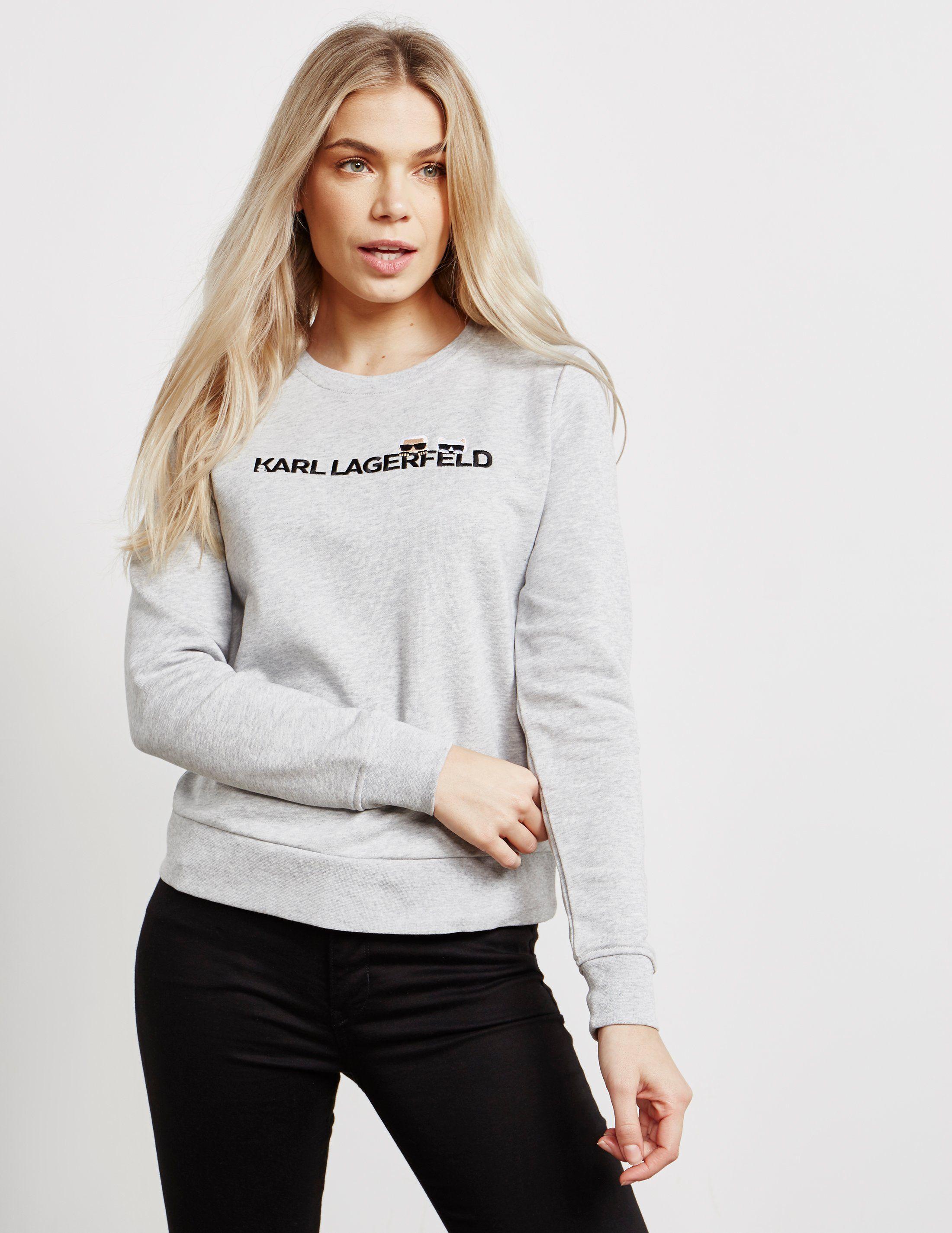 Karl Lagerfeld Ikon Logo Sweatshirt