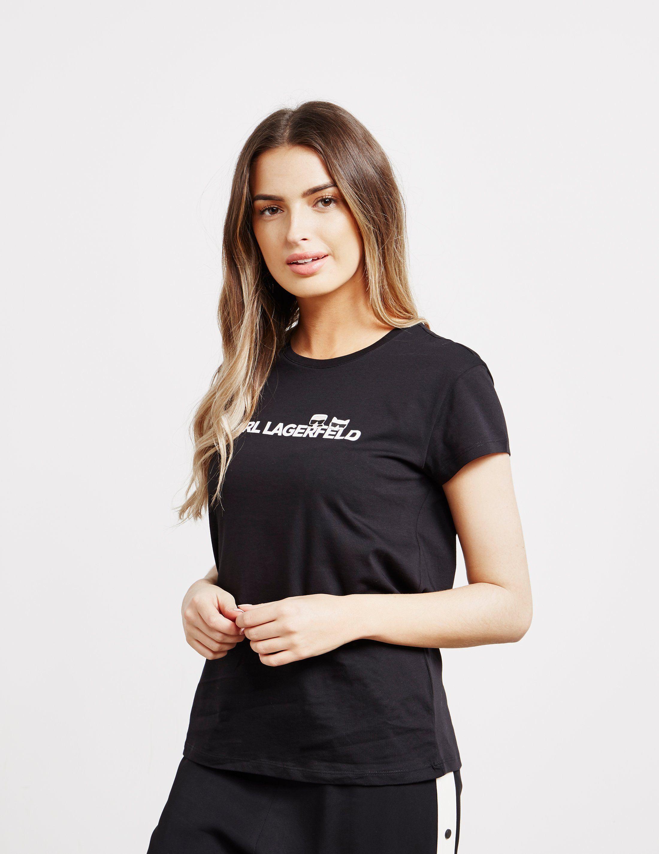 Karl Lagerfeld Ikon Logo Short Sleeve T-Shirt