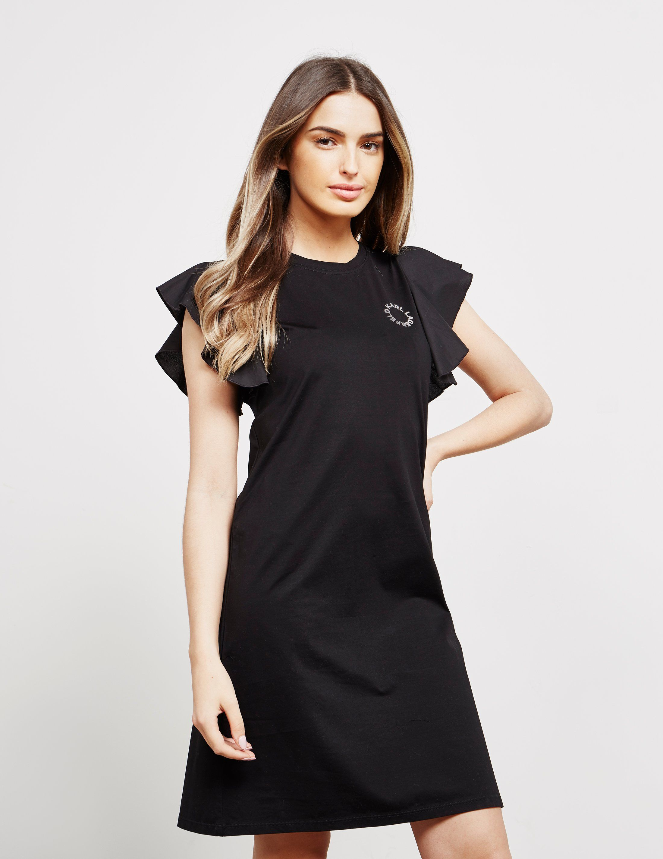 Karl Lagerfeld Ruffle Sleeve Dress