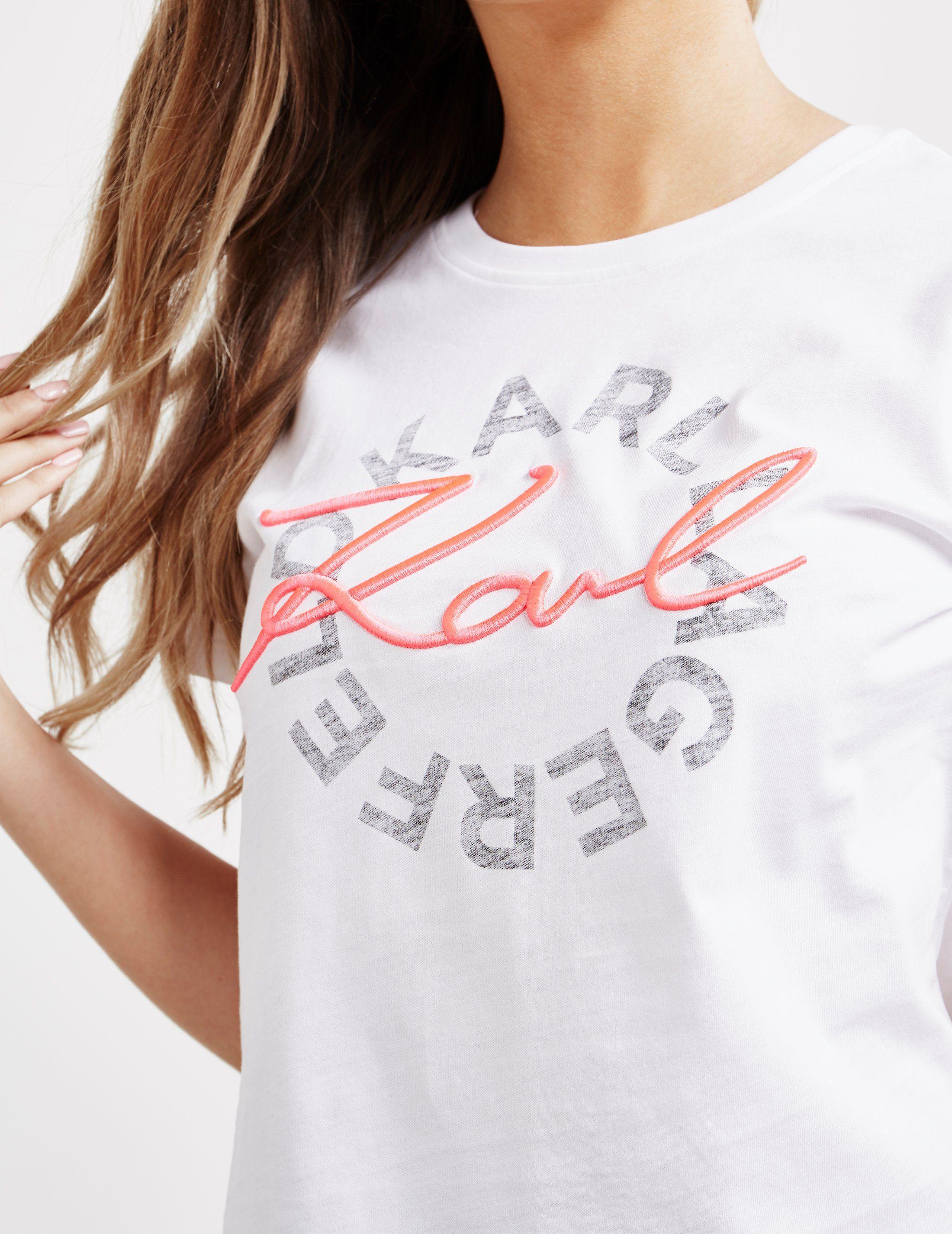 Karl Lagerfeld Neon Logo Short Sleeve T-Shirt