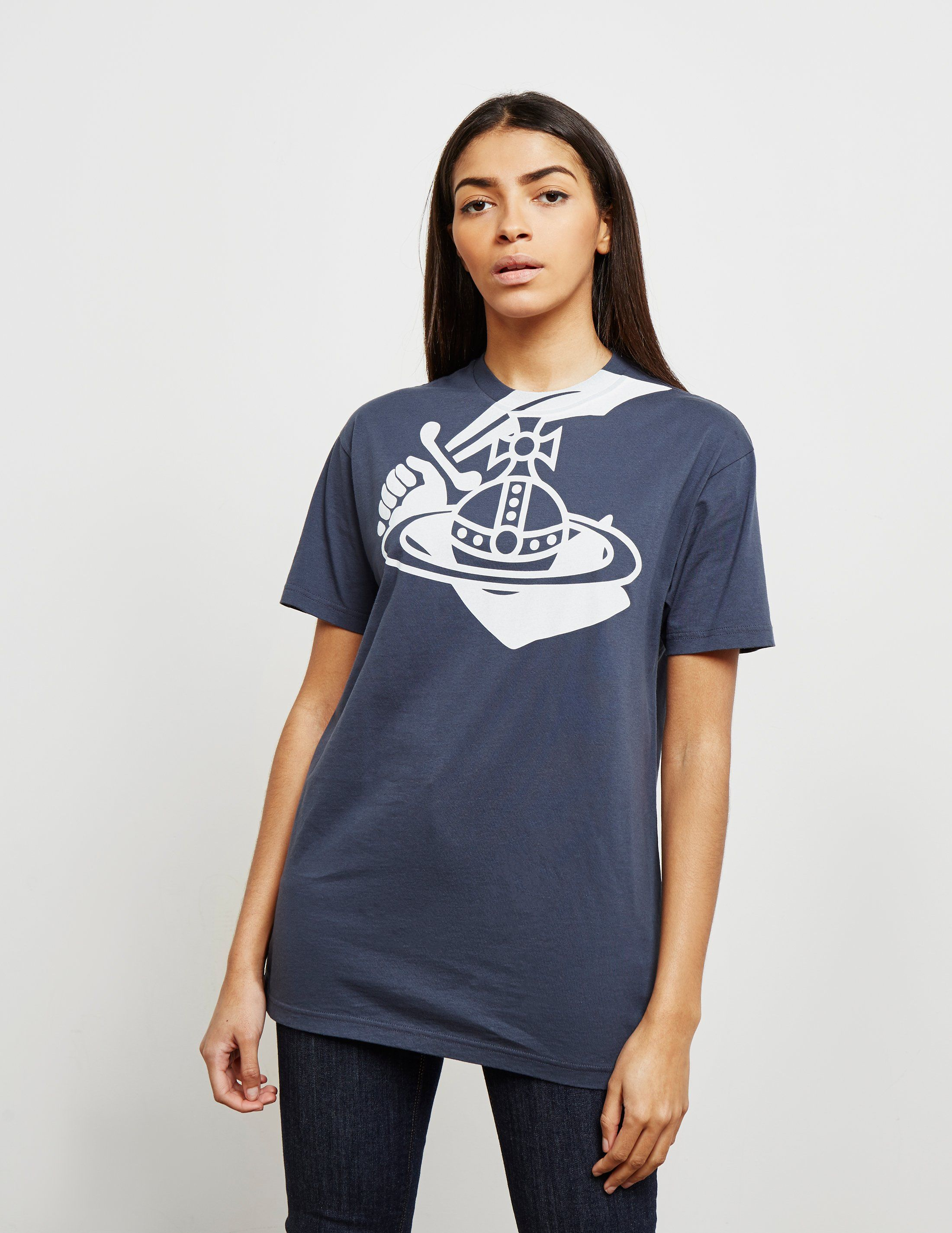 Vivienne Westwood Anglomania Orb Neck Short Sleeve T-Shirt