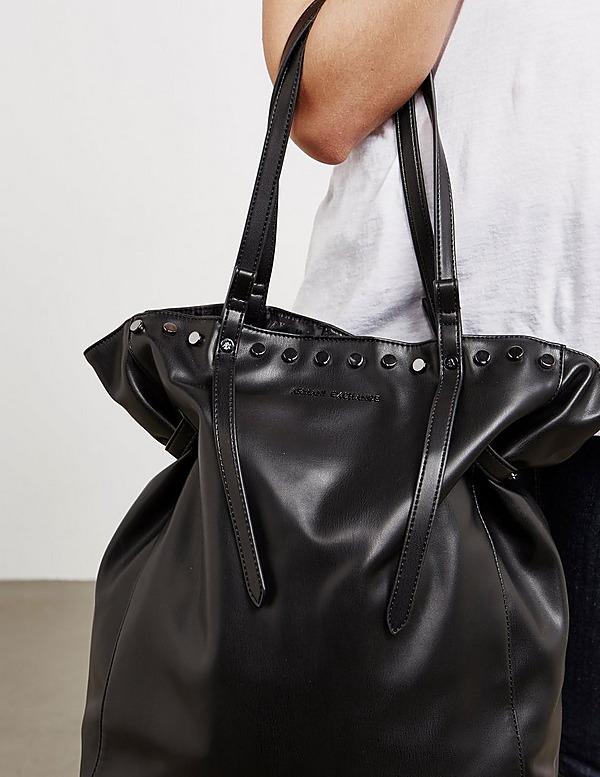 Armani Exchange Stud Large Shoulder Bag