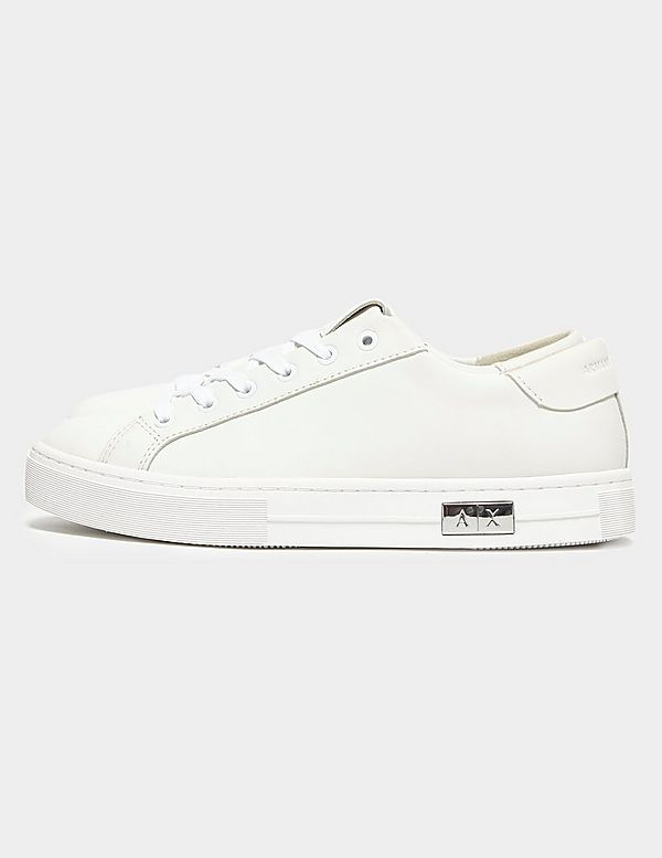 Armani Exchange Low Leather Trainers
