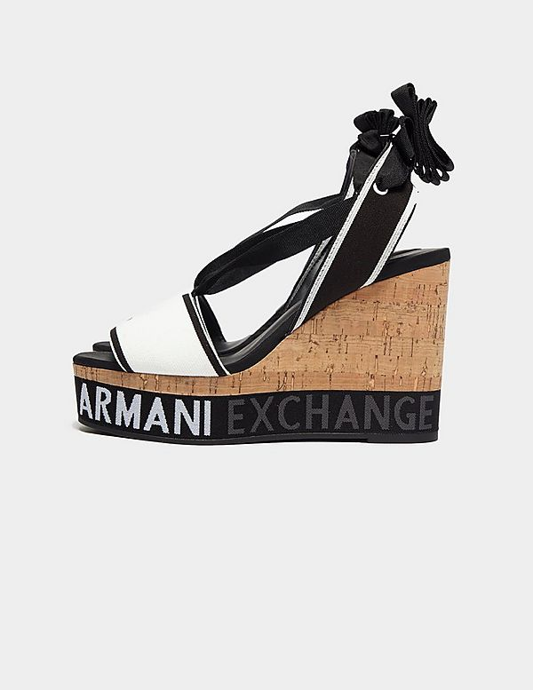 Armani Exchange Tie Wedge Heels