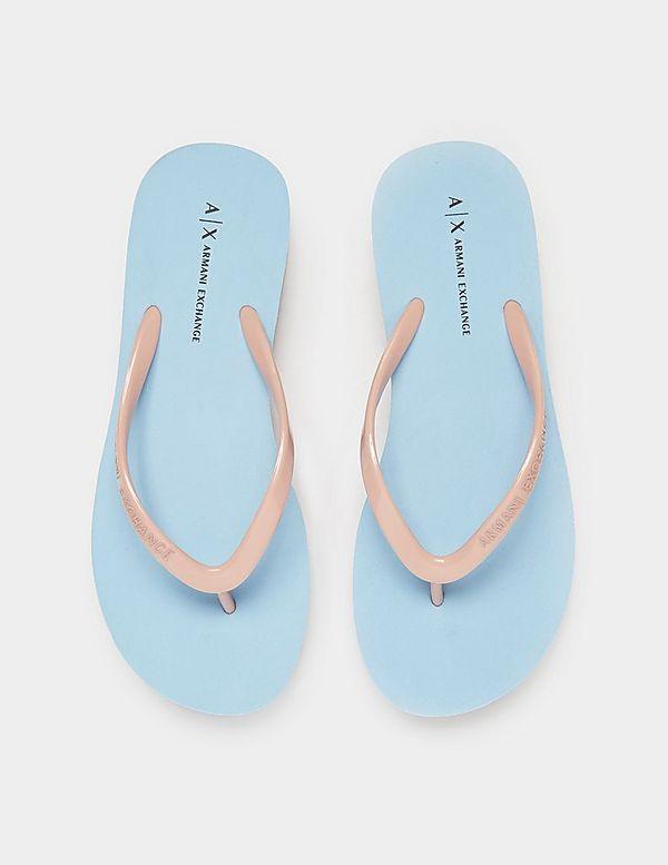 Armani Exchange Wedge Flip Flops