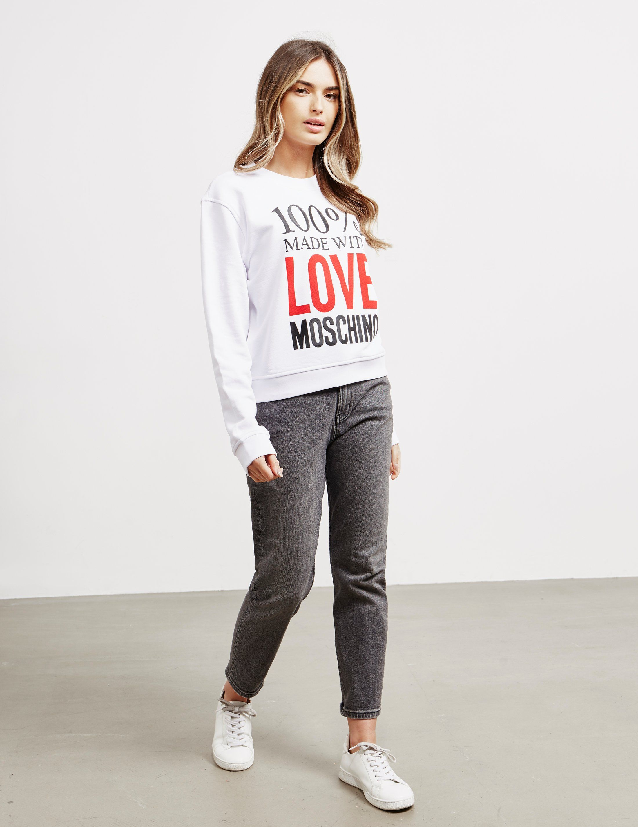 Love Moschino 100% Logo Sweatshirt
