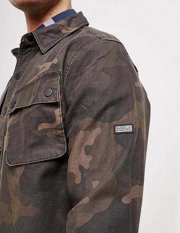 19b006cd50714 Barbour International Camouflage Overshirt | Tessuti