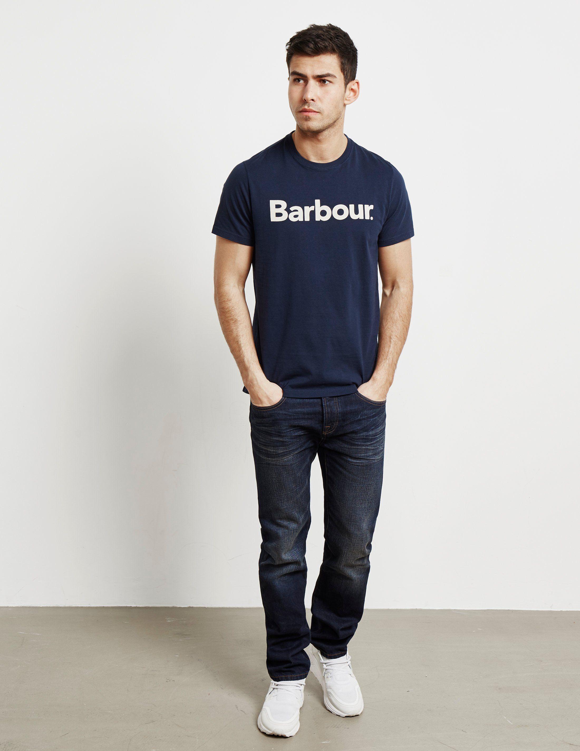 Barbour Large Logo Short Sleeve T-Shirt