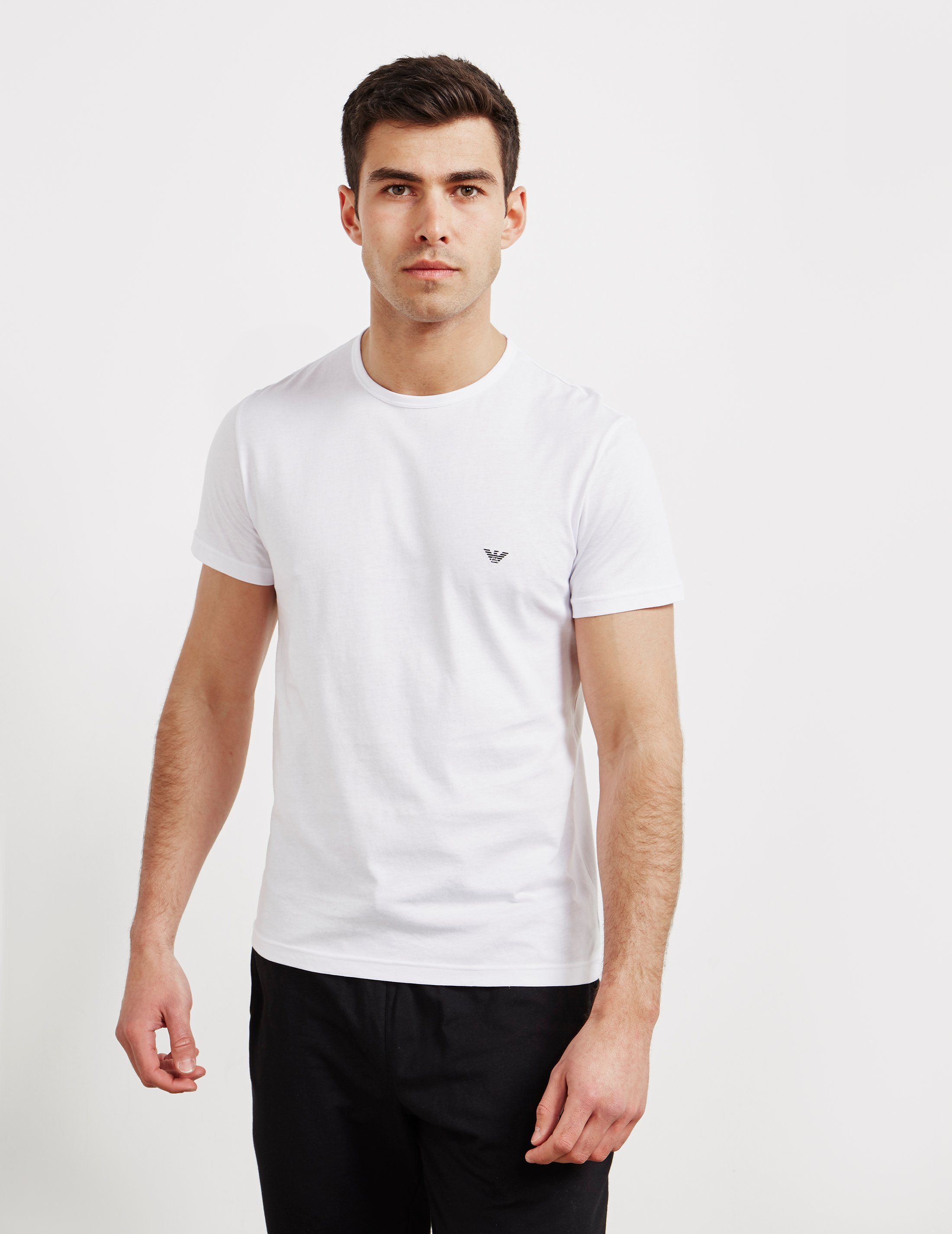 Emporio Armani 2-Pack Short Sleeve Logo T-Shirt