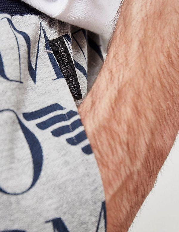Emporio Armani All Over Logo Shorts