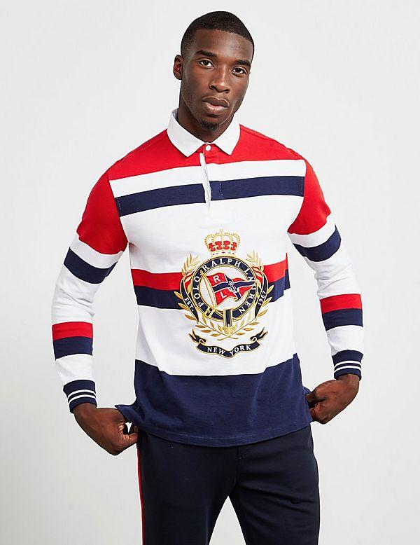 Polo Ralph Lauren Crest Rugby Long Sleeve Polo Shirt