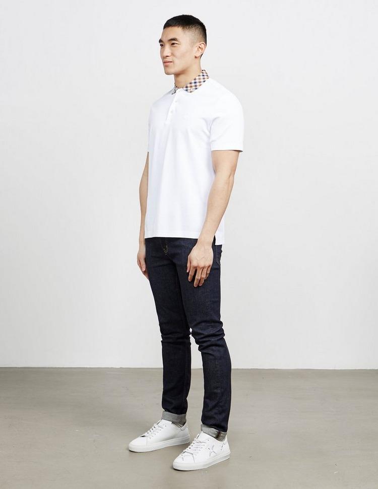 Aquascutum Club Check Collar Short Sleeve Polo Shirt