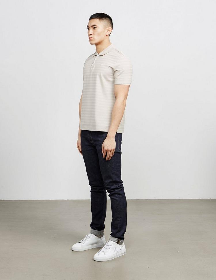 Aquascutum Lamar Stripe Short Sleeve Polo Shirt