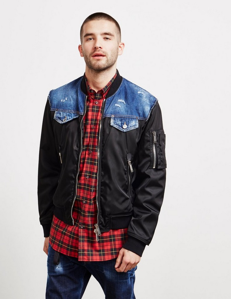 Dsquared2 Nylon Bomber Jacket