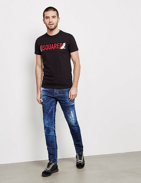 Dsquared2 Large Tape Logo Short Sleeve T-Shirt