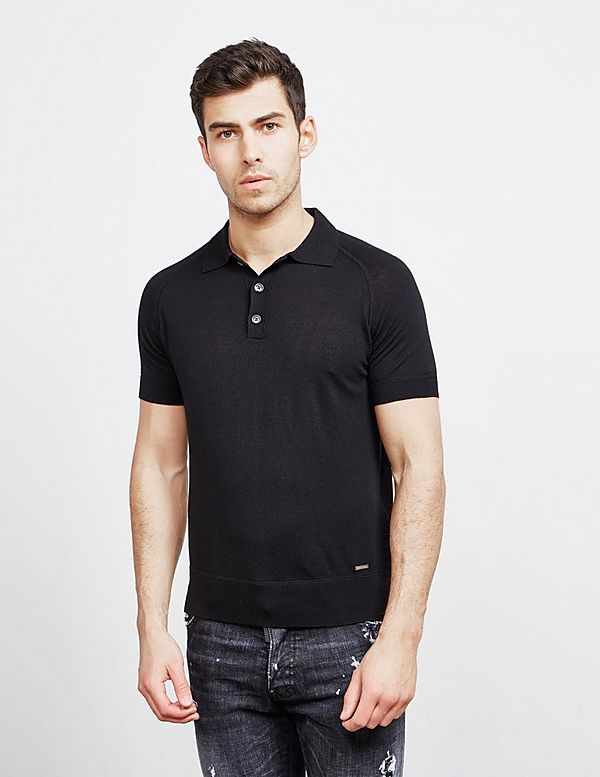 Dsquared2 Short Sleeve Knitted Polo Shirt