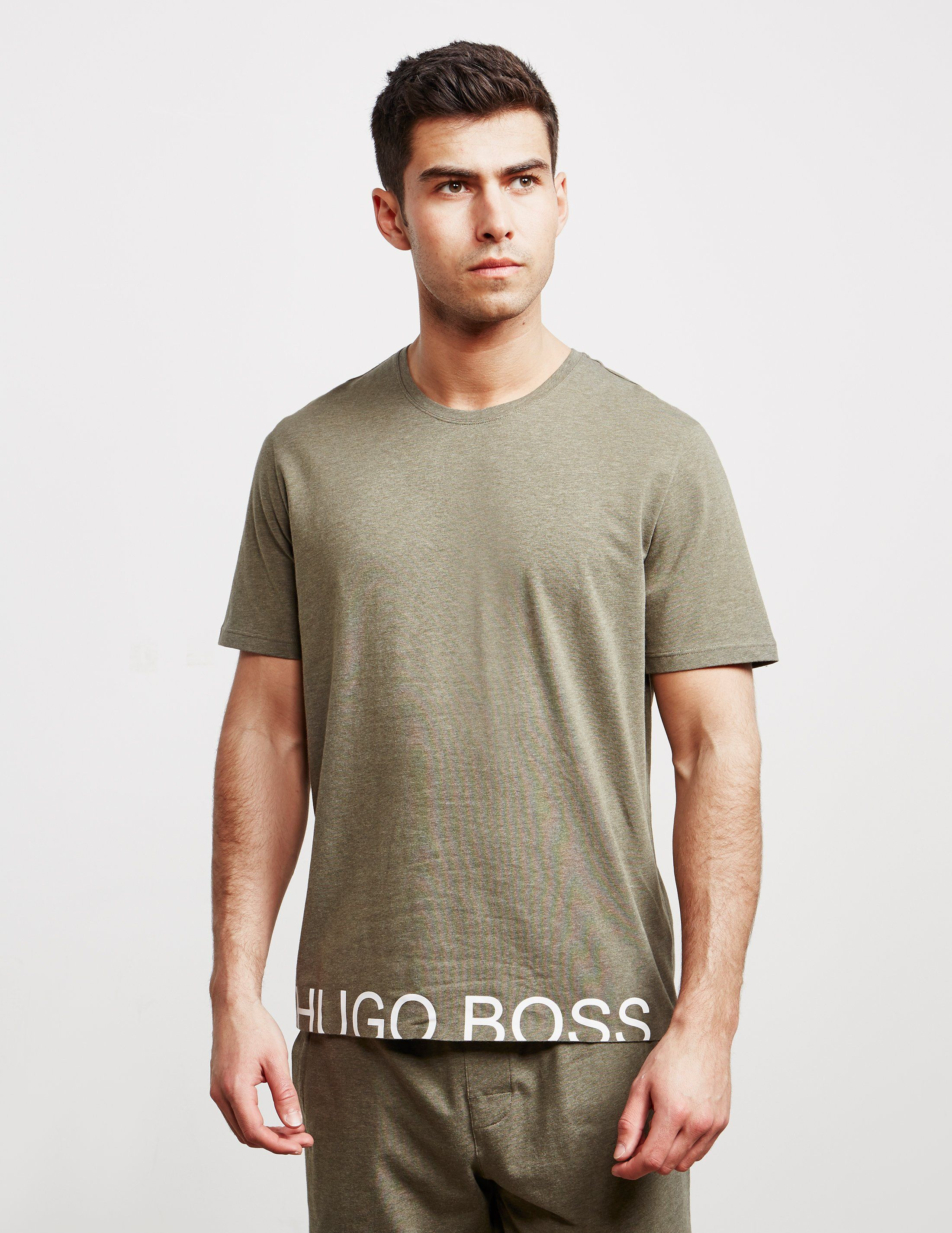 BOSS Hem Logo Short Sleeve T-Shirt