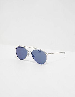 Calvin Klein Blue Lens Aviator Sunglasses