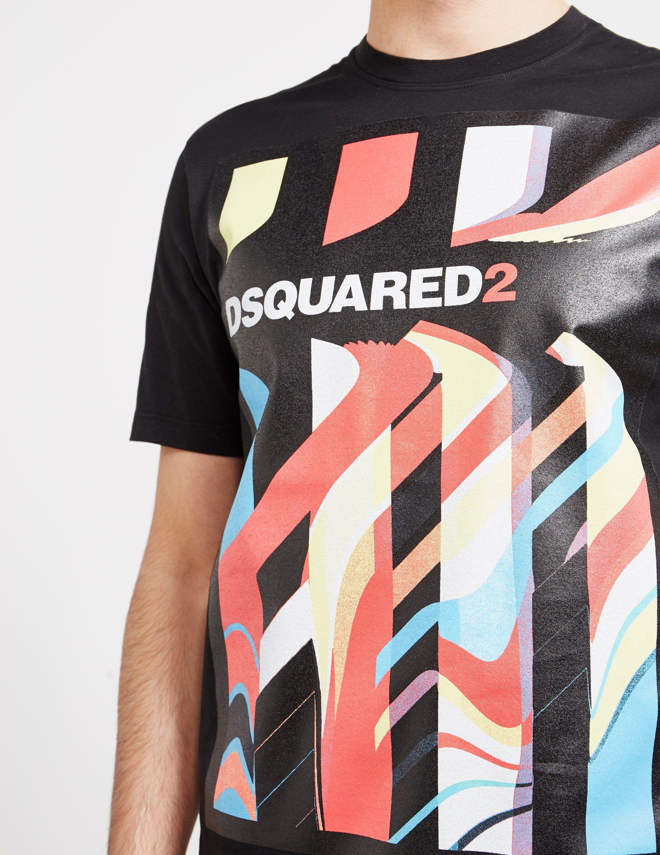 Dsquared2 Graffiti Short Sleeve T-Shirt