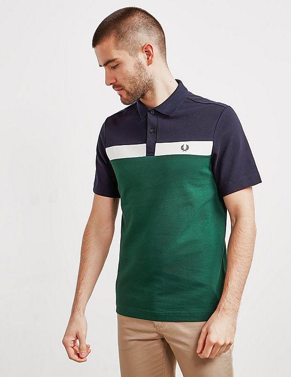 1c917e29c Fred Perry Panel Pique Short Sleeve Polo Shirt   Tessuti