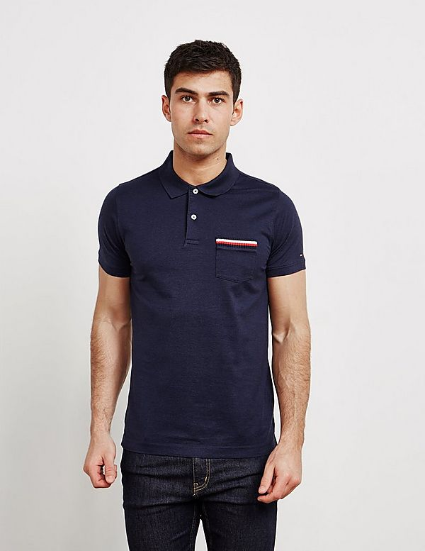 2647c89be Tommy Hilfiger Tipped Pocket Short Sleeve Polo Shirt | Tessuti