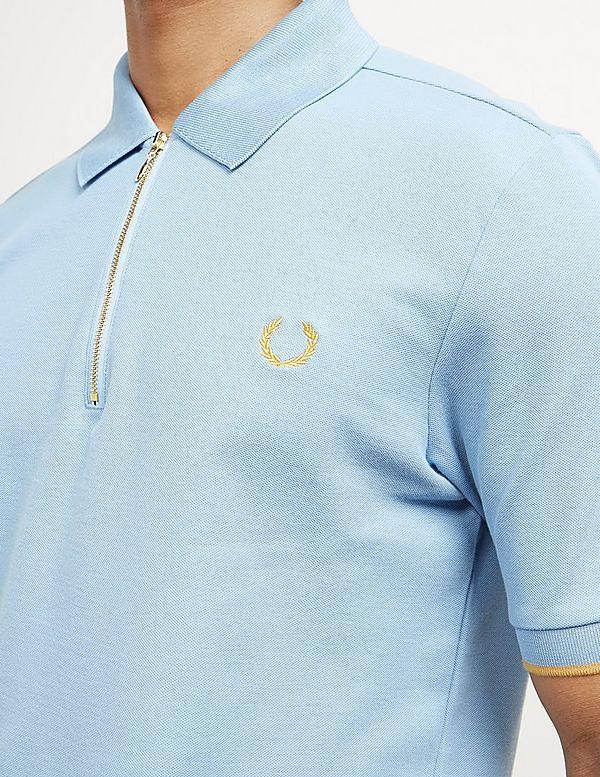 f17b8ee6 Fred Perry x Miles Kane Short Sleeve Zip Polo Shirt | Tessuti