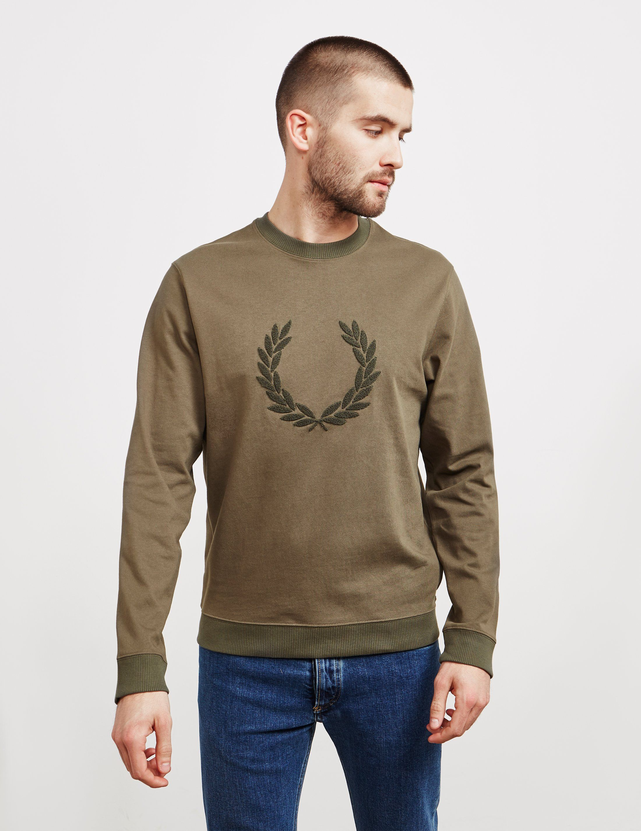 Fred Perry Textured Logo Sweatshirt