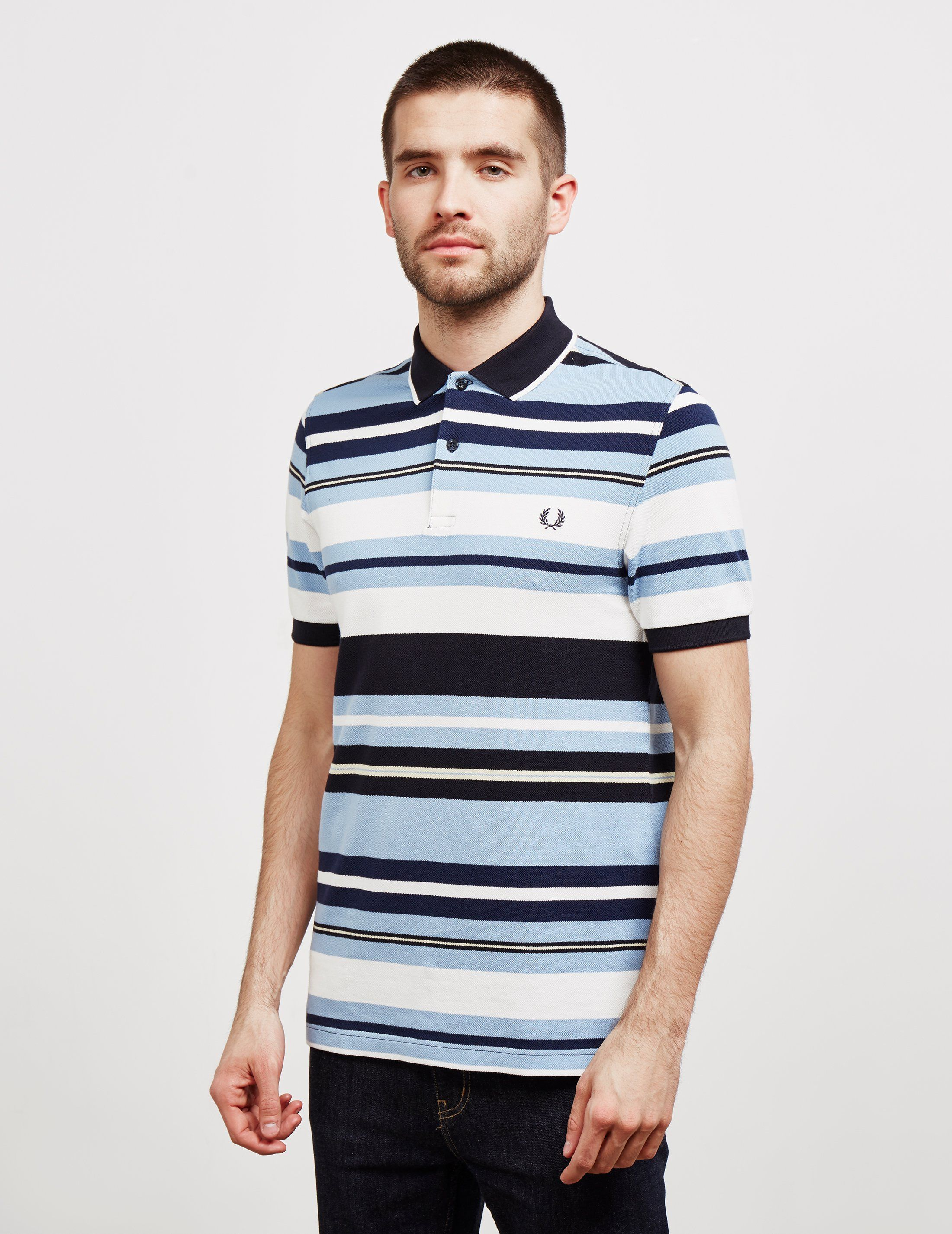 Fred Perry Bold Stripe Short Sleeve Polo Shirt