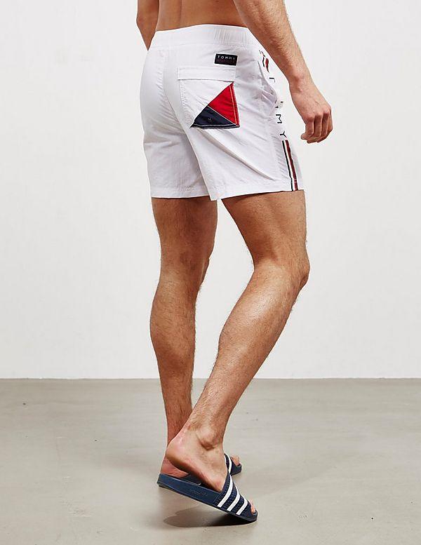5cfd1e11abbe Tommy Hilfiger Logo Side Stripe Swim Shorts | Tessuti