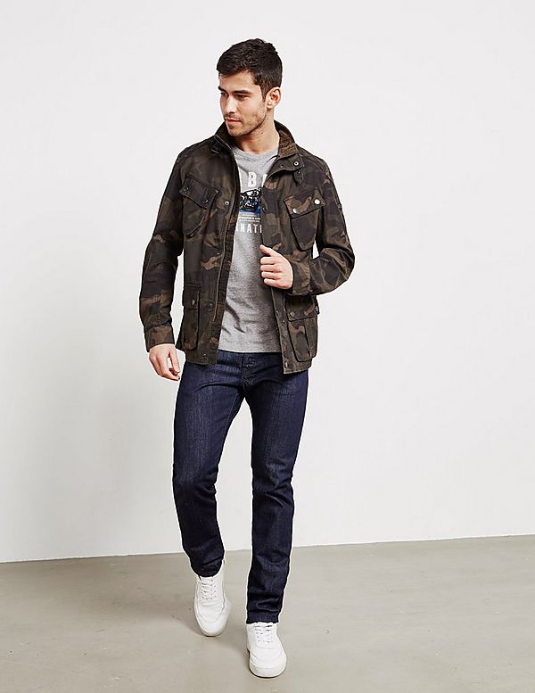 0013eb96d6e77 Barbour International Washed Camo Jacket | Tessuti
