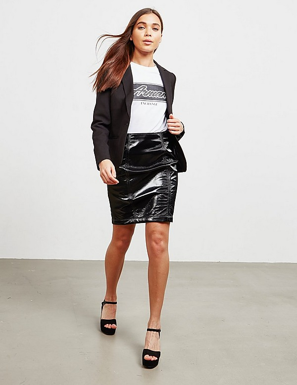 Armani Exchange Leather Skirt - Online Exclusive