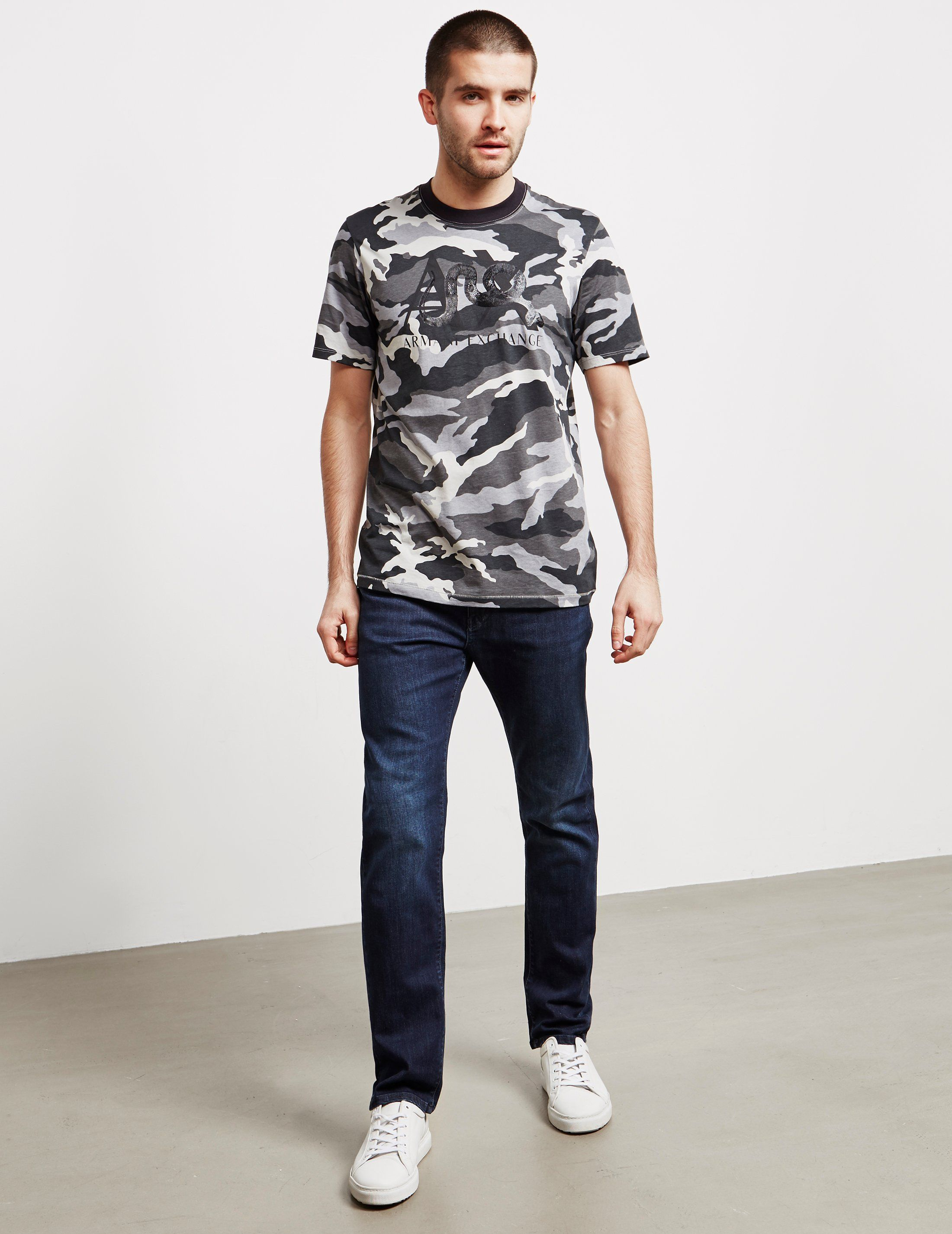 Armani Exchange Camo Short Sleeve T-Shirt - Online Exclusive