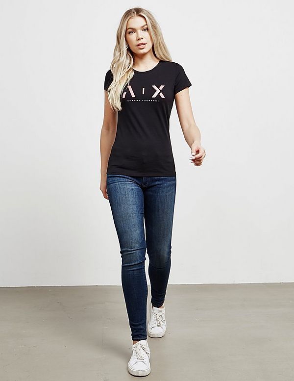 Armani Exchange Glitter Short Sleeve T-Shirt