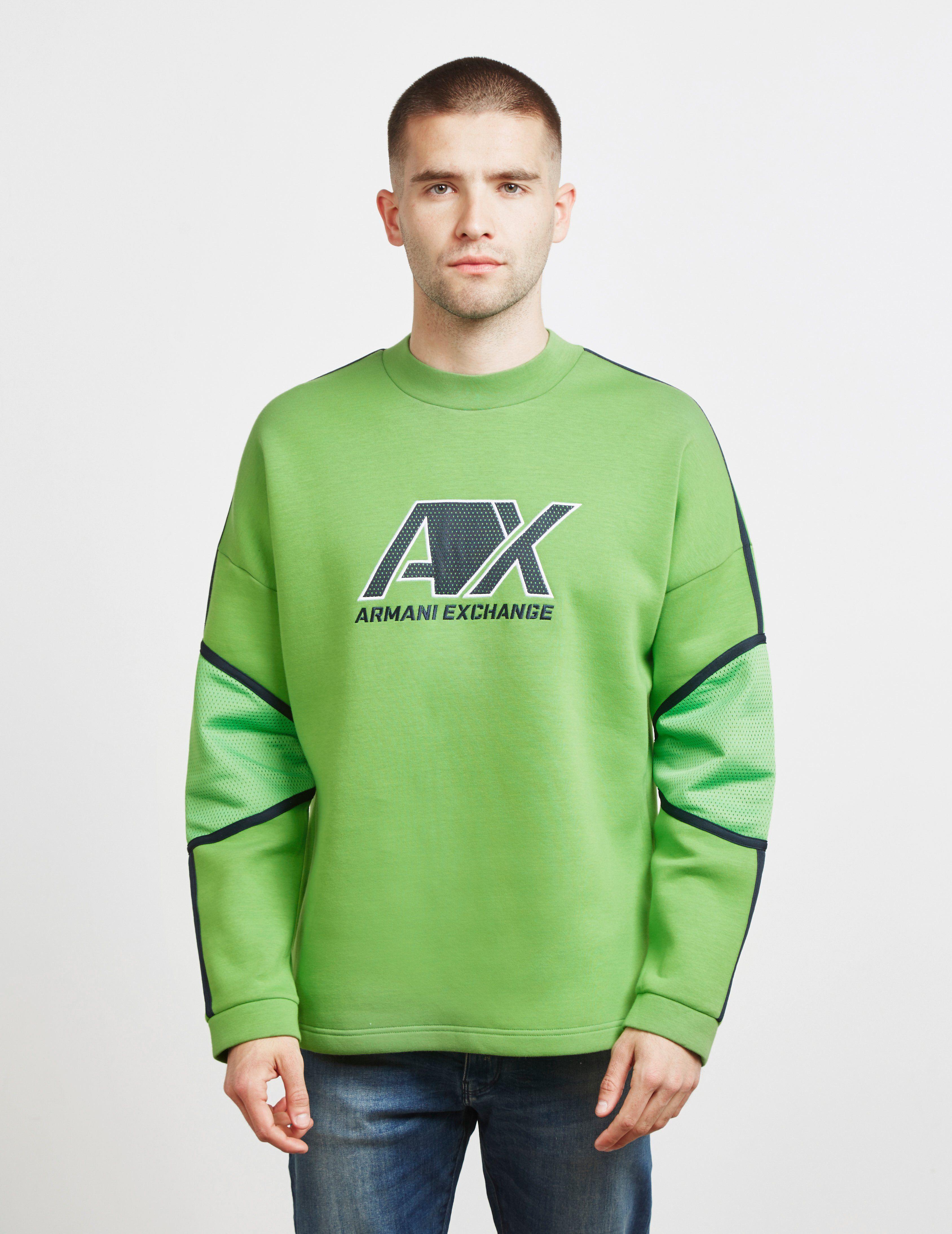 Armani Exchange Neoprene Mesh Sweatshirt