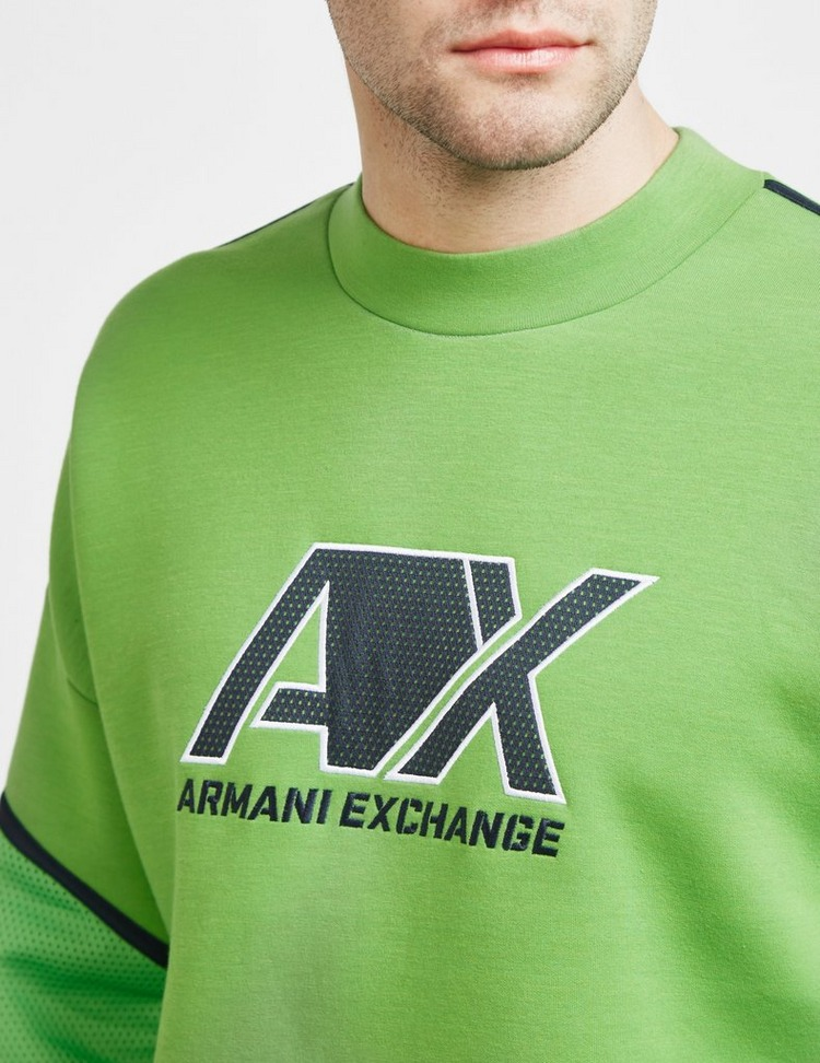 Armani Exchange Neoprene Mesh Sweatshirt