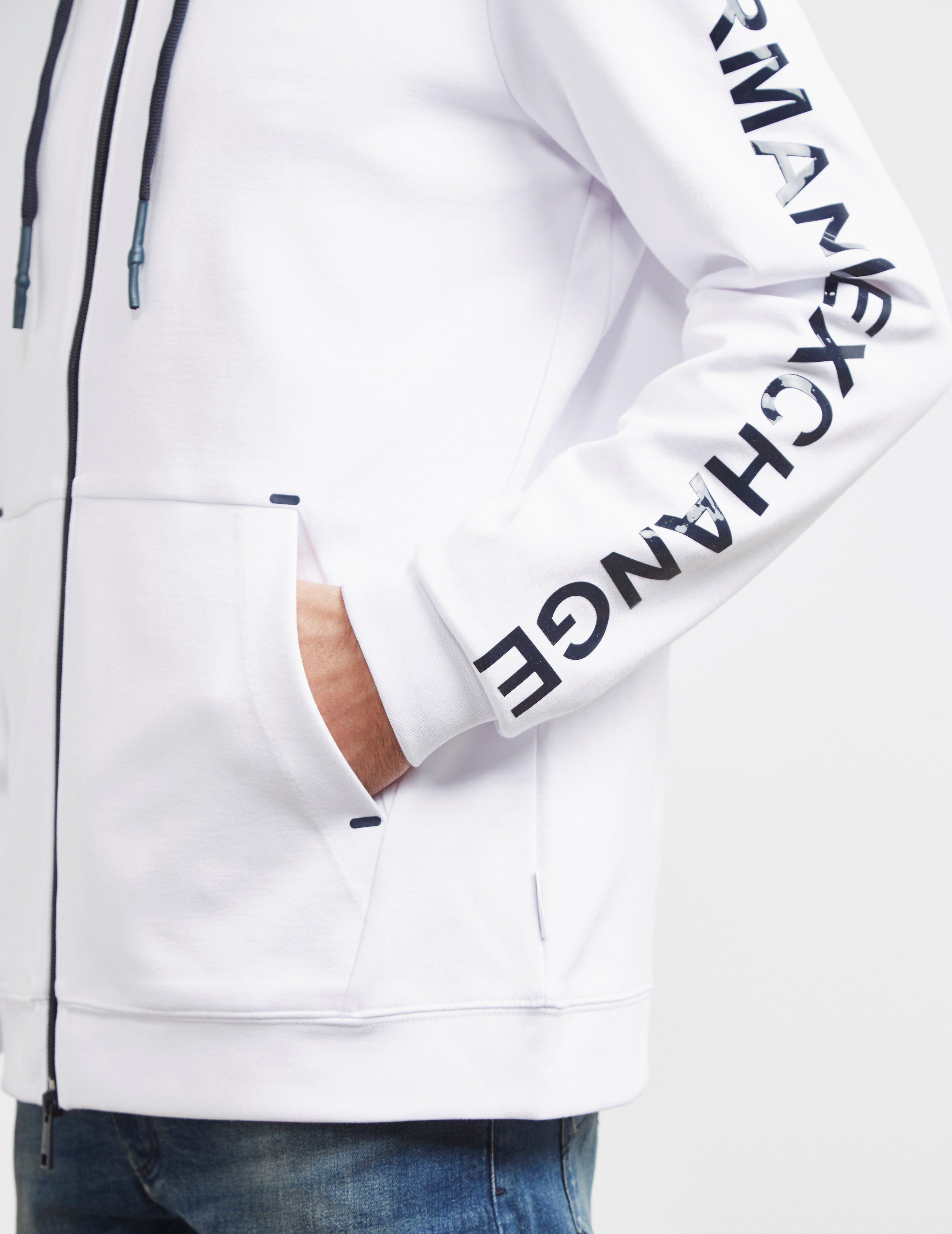 Armani Exchange Logo Sleeve Hoodie