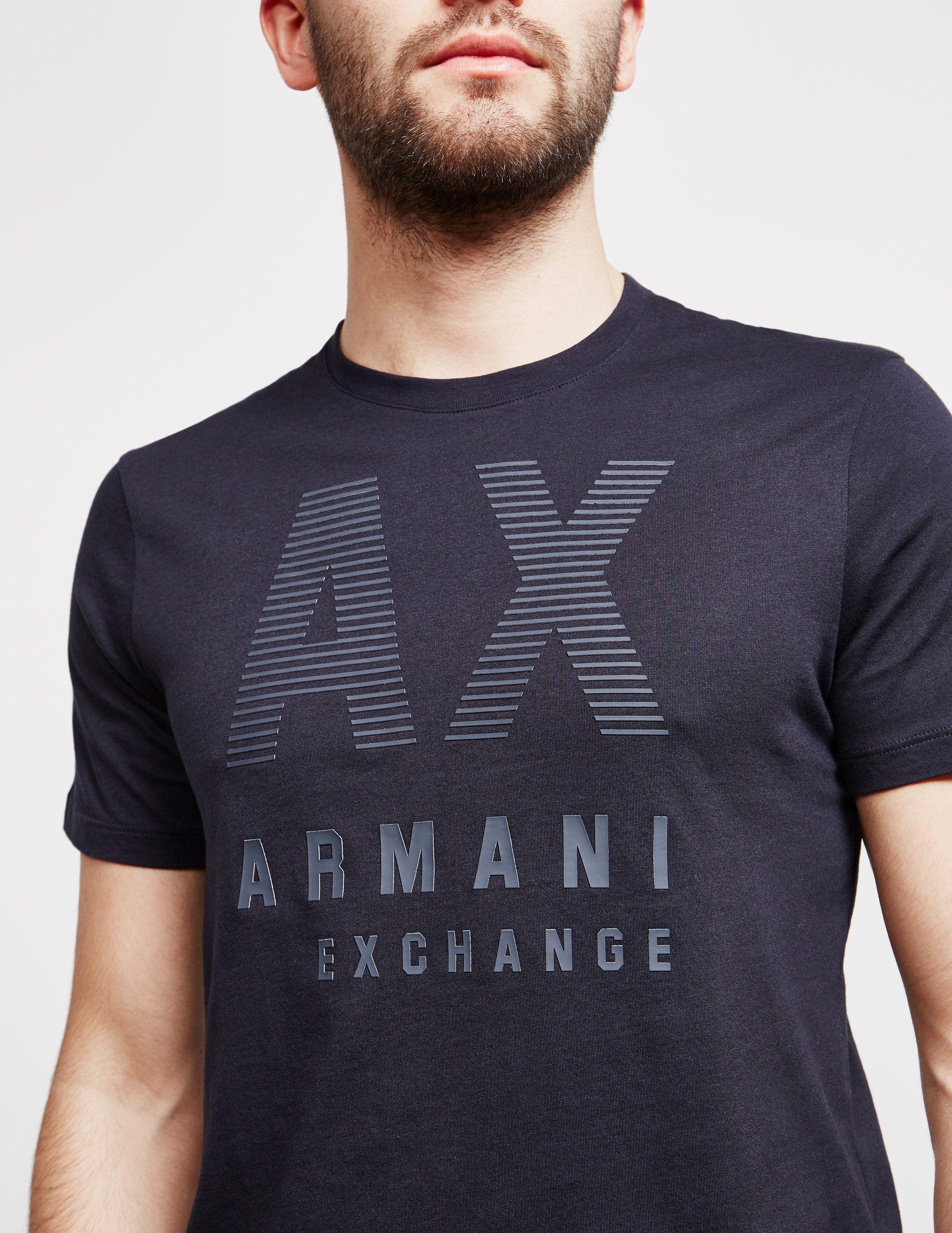 Armani Exchange 3D Stripe Short Sleeve T-Shirt - Online Exclusive