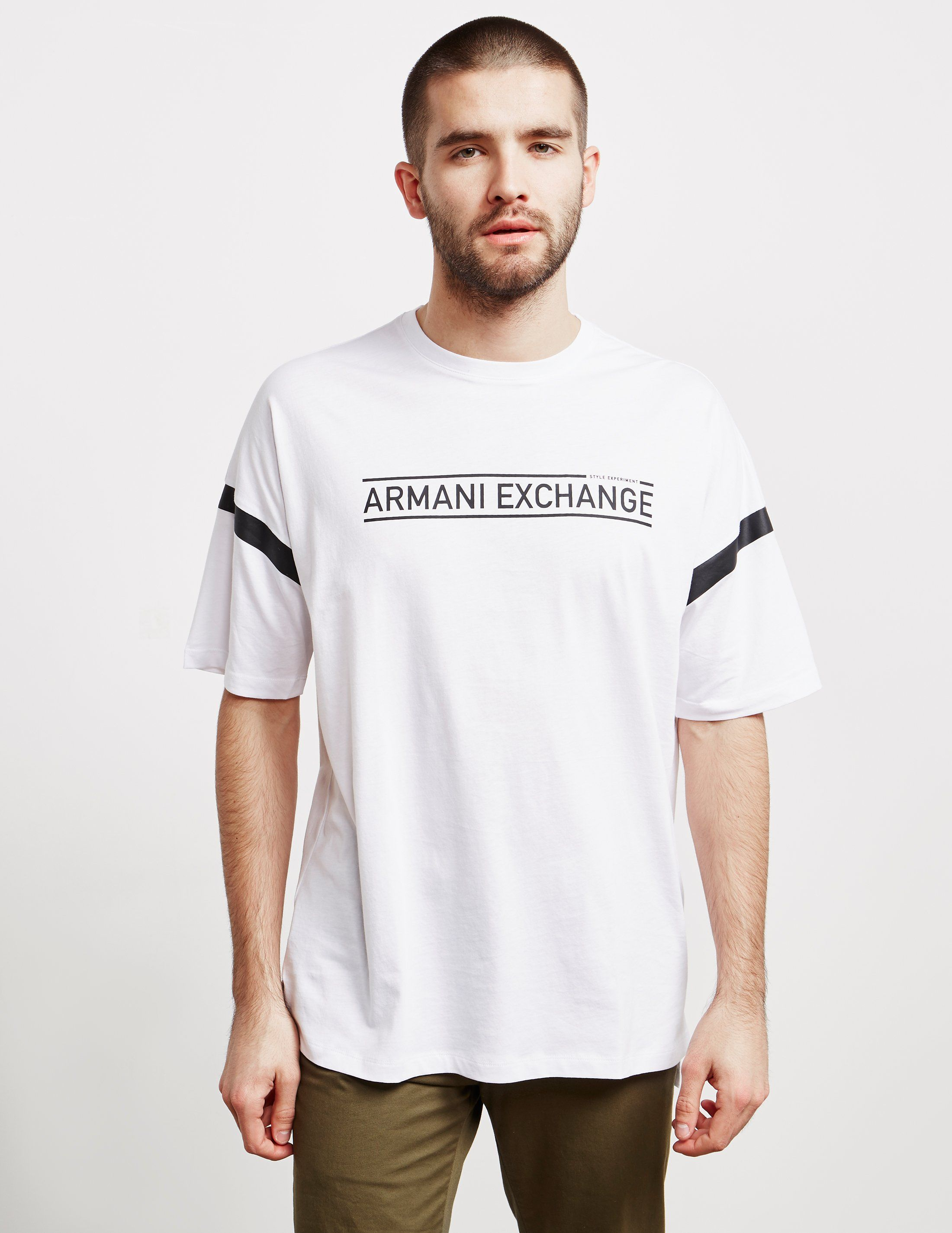 Armani Exchange Stripe Short Sleeve T-Shirt - Online Exclusive