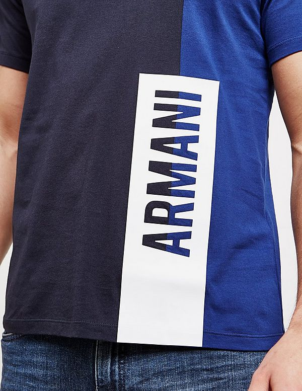 Armani Exchange Cut And Sew Short Sleeve T-Shirt